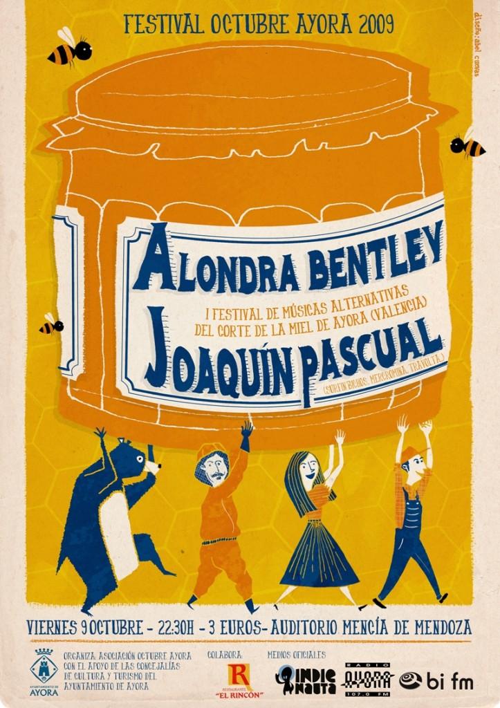 Cartel del Festival Octubre Ayora 2009 (by Abel Cuevas)